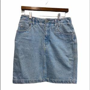 Lizwear Vintage Light Blue Denim Skirt Size 8 EUC